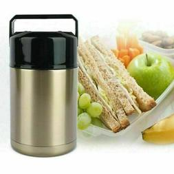 Vacuum Insulated Lunch Box Stainless Steel 2 Tier Jar Hot Th