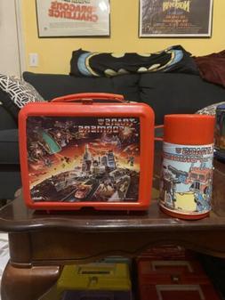 Vintage Transformers 1986 Red Plastic Lunch Box Aladdin Hasb