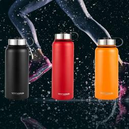 Water Bottle Stainless Steel Thermos Flask Wide Mouth Portab