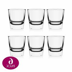 Whiskey Glass Thick Weighted Bottom Scotch & Bourbon Tumbler