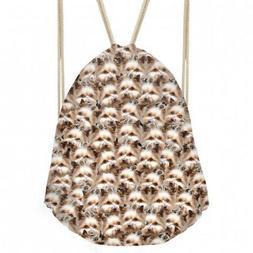 - Coloranimal Cute Yorkshire Terrier Puzzle Drawstring Bag